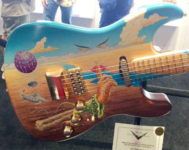 Fender hand-painted guitar